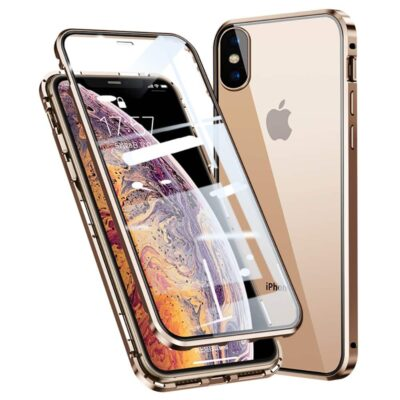 iphone x perfect cover guld