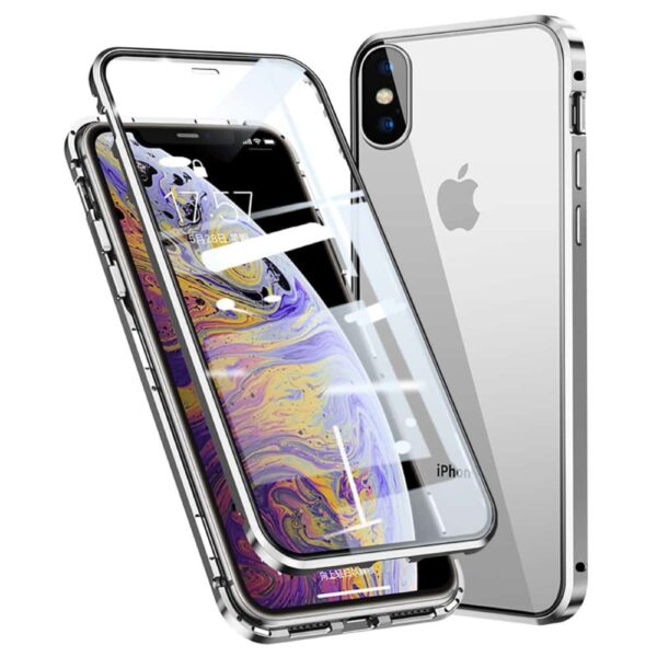 iphone x perfect cover sølv